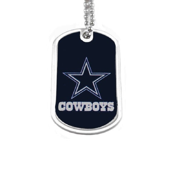 Shop NFL Dallas Cowboys Dog Tag Necklace Charm Chain - On Sale - Free  Shipping On Orders Over  45 - Overstock - 15389274 61be473e7