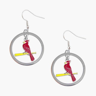 MLB St Louis Cardinals Hoop Logo Earring Set Charm