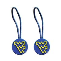NCAA West Virginia Mountainers Zipper Pull Charm Tag Set Luggage Pet ID