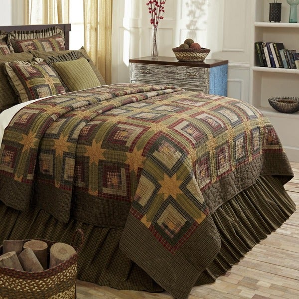 Tea Cabin Cotton Quilt (Shams Not Included)