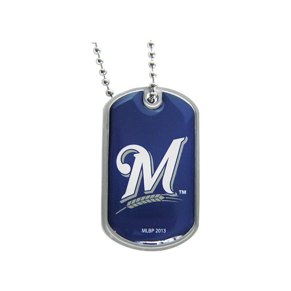 NBA Milwaukee Brewers Dog Tag Necklace Charm Chain