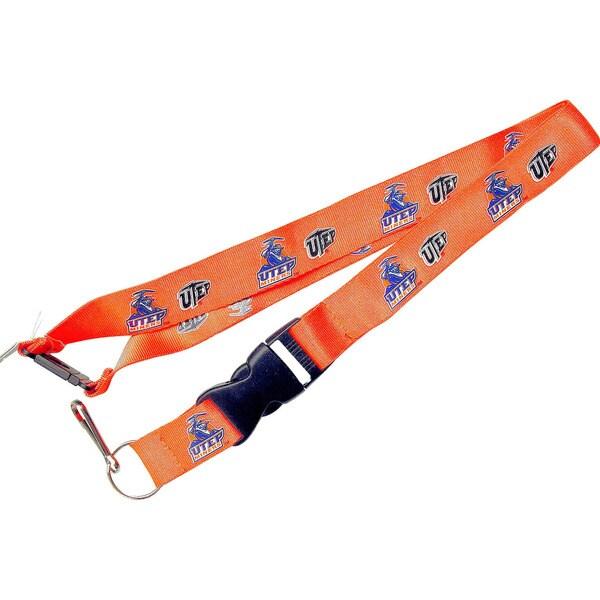 NCAA UTEP Miners Texas EI Paso Lanyard Keychain Badge Holder - Orange