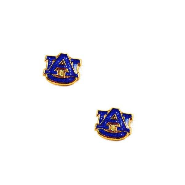 NCAA Auburn Tigers Glitter Sparkle Post Stud logo Earring Set