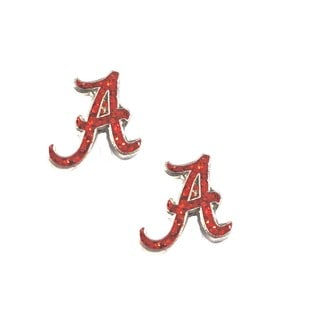 NCAA Alabama Crimson Tide Glitter Sparkle Post Stud logo Earring