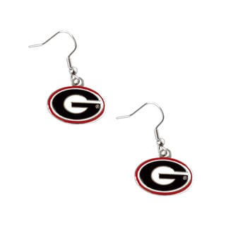 NCAA Georgia Bulldogs Dangle Logo Earring Set Charm Gift