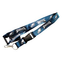 NFL Philadelphia Eagles Lanyard Keychain Batch Id Holder  - Green