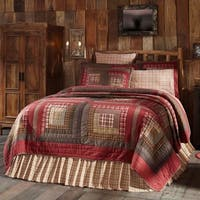 Red Rustic Bedding VHC Tacoma Quilt Cotton Patchwork