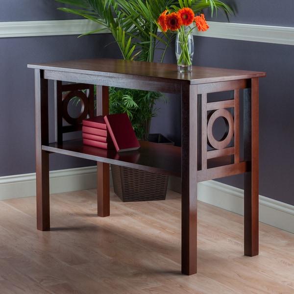 The Gray Barn Jalisco Walnut Wood Console Table