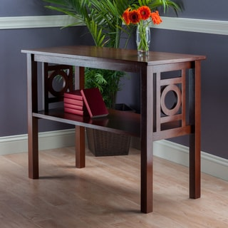 Ollie Walnut Wood Console Table