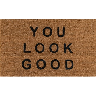 "Novogratz by Momeni Aloha You Look Good Coir Doormat (1'6"" x 2'6"")"