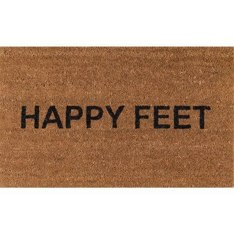 """Novogratz by Momeni Aloha Happy Feet Coir Doormat 1'6"""" x 2'6"""""""