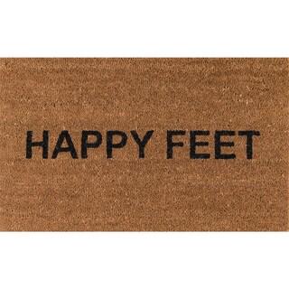 """Novogratz by Momeni Aloha Happy Feet Coir Doormat (1'6"""" x 2'6"""")"""