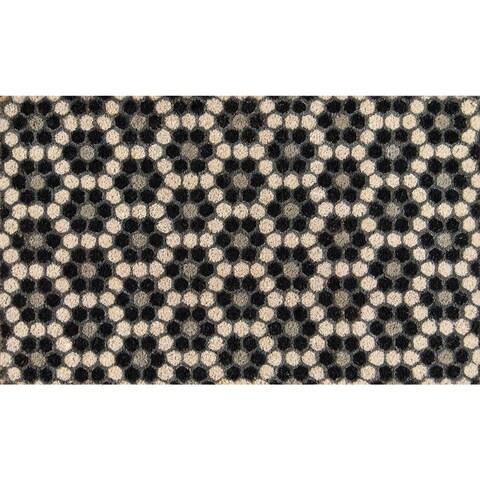 """Novogratz by Momeni Aloha Hexagon Tile Coir Doormat (1'6"""" x 2'6"""")"""