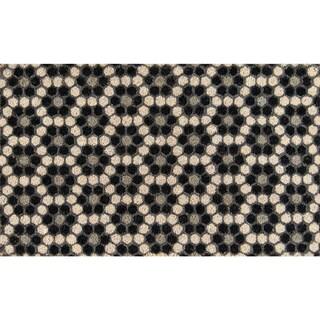"""Novogratz by Momeni Aloha Hexagon Tile Coir Doormat 1'6"""" x 2'6"""""""