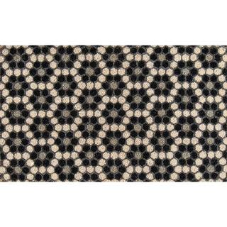 "Novogratz by Momeni Aloha Hexagon Tile Coir Doormat (1'6"" x 2'6"")"