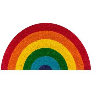 """Novogratz by Momeni Aloha Rainbow Coir Doormat 1'4 x 2'6 - 1'4"""" x 2'6"""""""