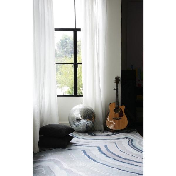 Novogratz by Momeni Delmar Agate Blue Wool Rug (9' x 12') - 9' x 12'