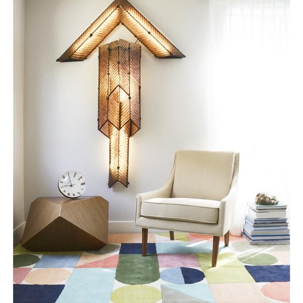 Novogratz by Momeni Delmar Geometric Multi Wool Rug (9' x 12') - 9' x 12'