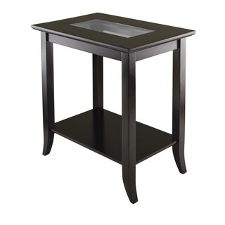 Genoa Glass-top Rectangular End Table