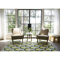 Novogratz by Momeni Delmar Sunshine Hand Tufted Wool Blue Area Rug - 9' x 12'