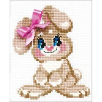 """Baby Rabbit Counted Cross Stitch Kit-6""""X7"""" 10 Count"""