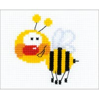 "Little Bee Counted Cross Stitch Kit-6.25""X5"" 10 Count"