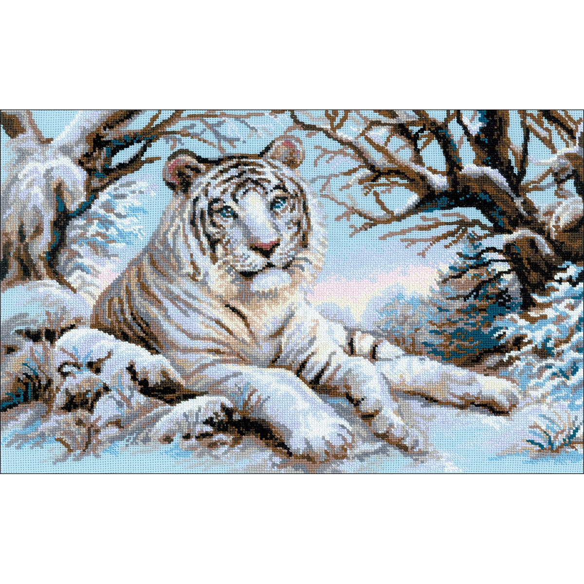 "RIOLIS Bengal Tiger Counted Cross Stitch Kit-23.5""X15.75""..."