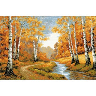 "The Golden Grove Counted Cross Stitch Kit-23.5""X15.75"" 10 Count"