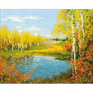 "Autumn Day Counted Cross Stitch Kit-11.75""X9.5"" 10 Count"