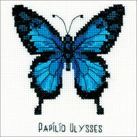 "Ulysses Butterfly Counted Cross Stitch Kit-5""X5"" 14 Count"