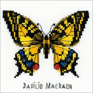 "Swallowtail Butterfly Counted Cross Stitch-5""X5"" 14 Count"