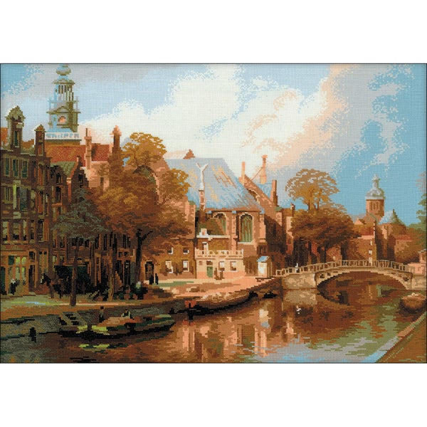 """Amsterdam Counted Cross Stitch Kit-21.25""""X15.75"""" 14 Count -  RIOLIS, R1189"""