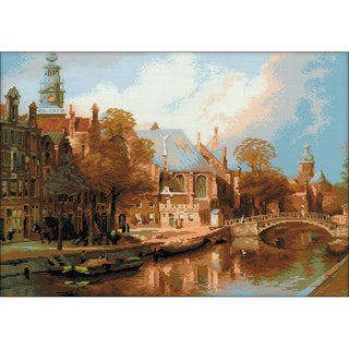 """Amsterdam Counted Cross Stitch Kit-21.25""""X15.75"""" 14 Count"""