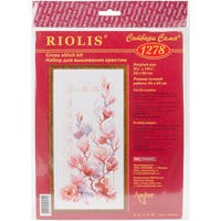 """Magnolia Counted Cross Stitch Kit-9.75""""X19.75"""" 14 Count"""