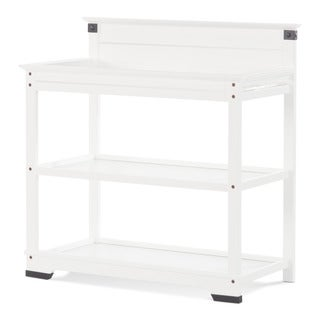Child Craft Matte White Redmond Dressing Table and Twin Bed Headboard