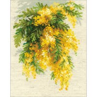 "Mimosa Counted Cross Stitch Kit-7""X9.5"" 14 Count"