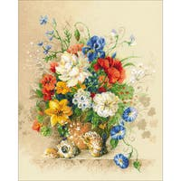 """Flemish Summer Counted Cross Stitch Kit-15.75""""X19.75"""" 14 Count"""