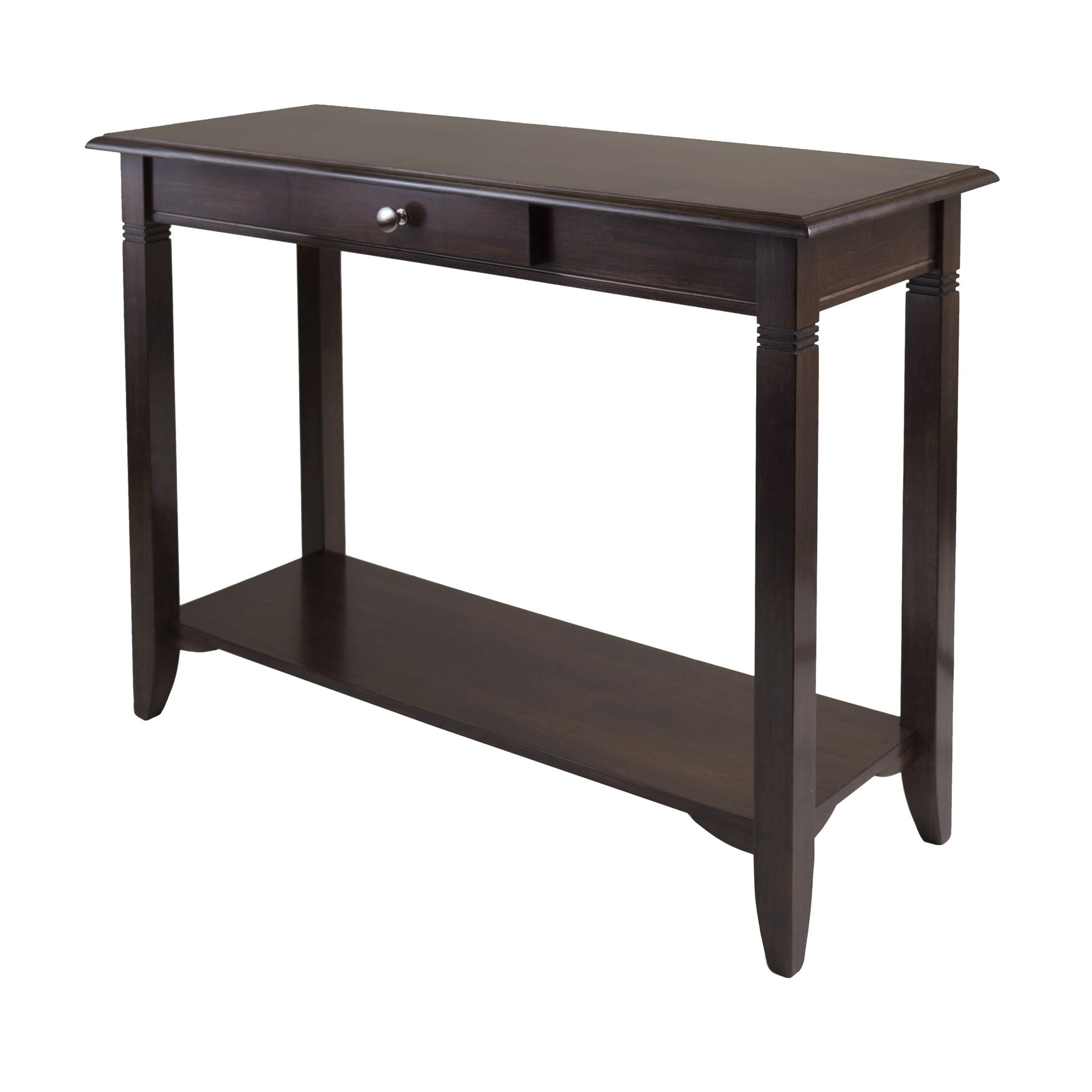 Winsome Nolan Console Table with Drawer (Cappuccino), Brown
