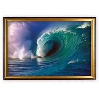 Waimea Bay Wave - Gold Frame