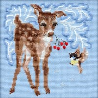 "Fawn Counted Cross Stitch Kit-6""X6"" 15 Count"