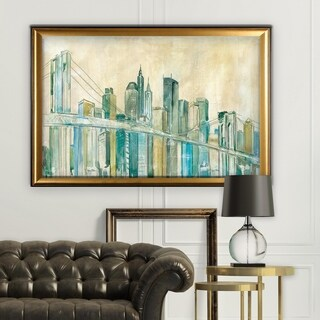 New York City Sketch - Gold Frame