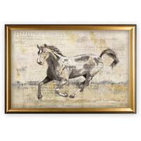 Golden Stallion II - Gold Frame