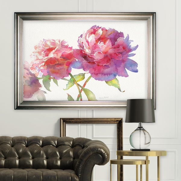 Prize Peonies II -Silver Frame