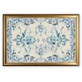 Border Damask - Gold Frame
