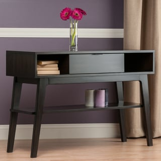 Winsome Elite Monty Grey Wood Console Table