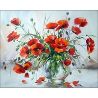 Collection D'Art Diamond Embroidery/Printed/Gem Kit 48X38cm-Poppies In A Vase