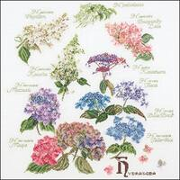 "Hydrangea Panel On Aida Counted Cross Stitch Kit-17.25""X18"" 16 Count"