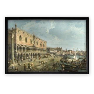 The-Doge-Palace -by CANALETTO - Black Frame