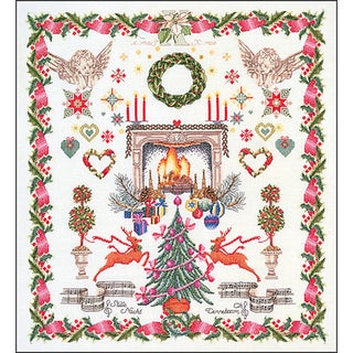 """Christmas Design On Aida Counted Cross Stitch Kit-23.5""""X25.75"""" 16 Count"""