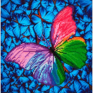 "Diamond Dotz Diamond Embroidery Facet Art Kit 15""X15""-Flutter By Pink"